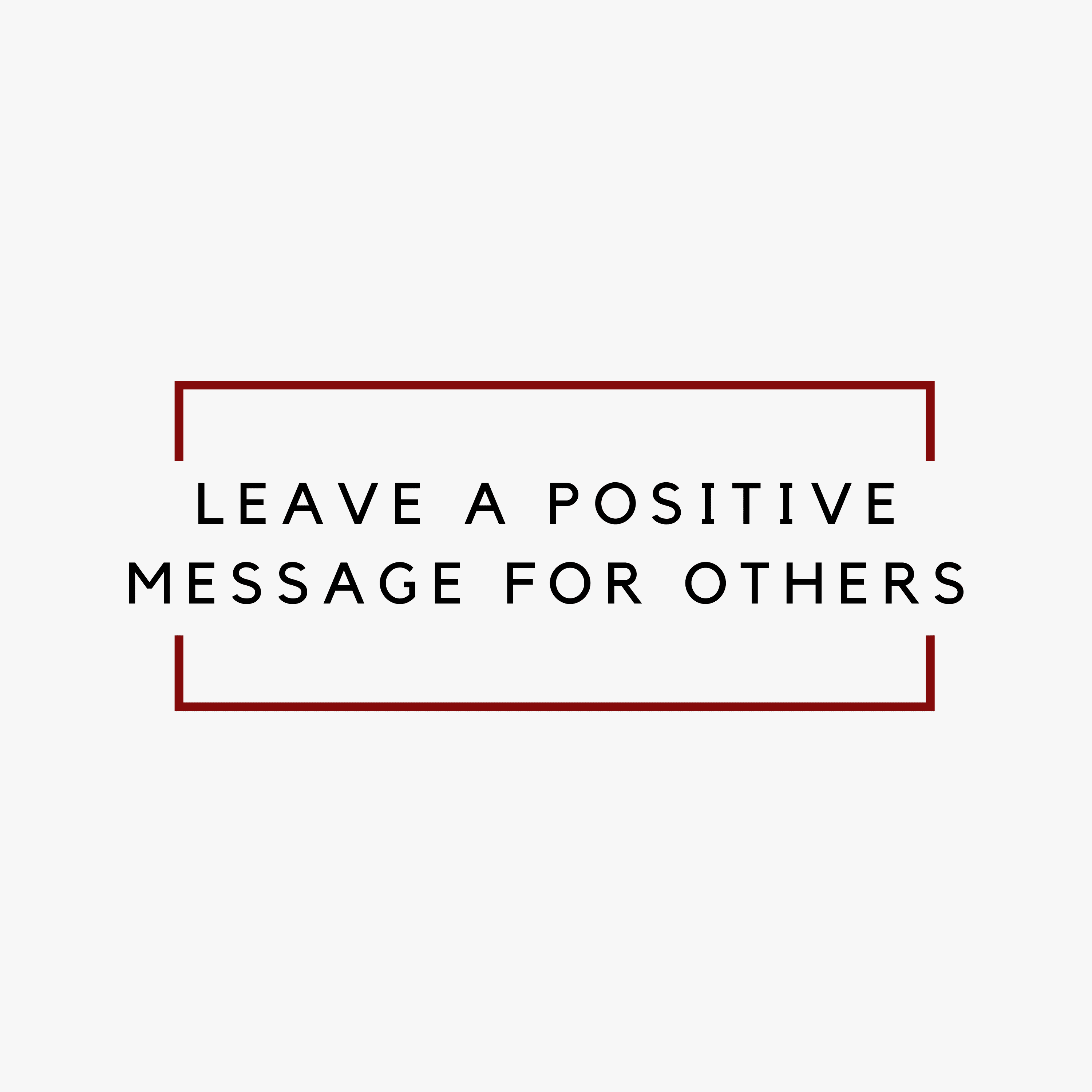 Spread positivity ???? Leave a message for someone!! Your mailman, neighbors, teacher, spouse, someone you miss!